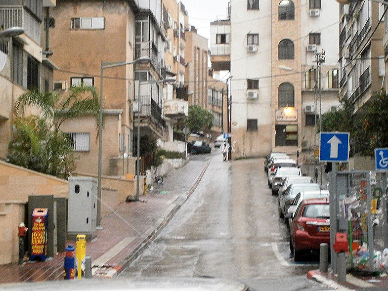 Rainy day in Bnei Brak