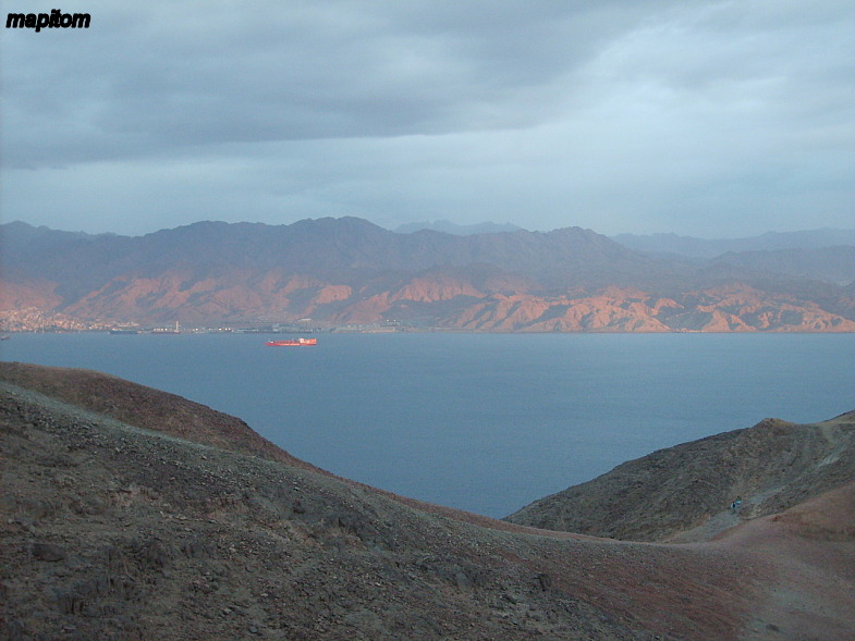 Eilat Mountains. View of the Jordan