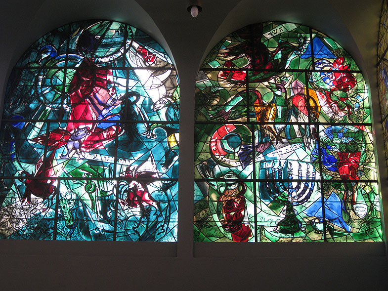 The Chagall Windows in Hadassah Medical Center