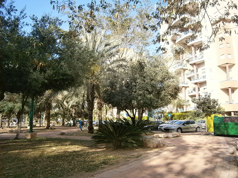 Кирьят-Ям. Парк на улице Лилах
