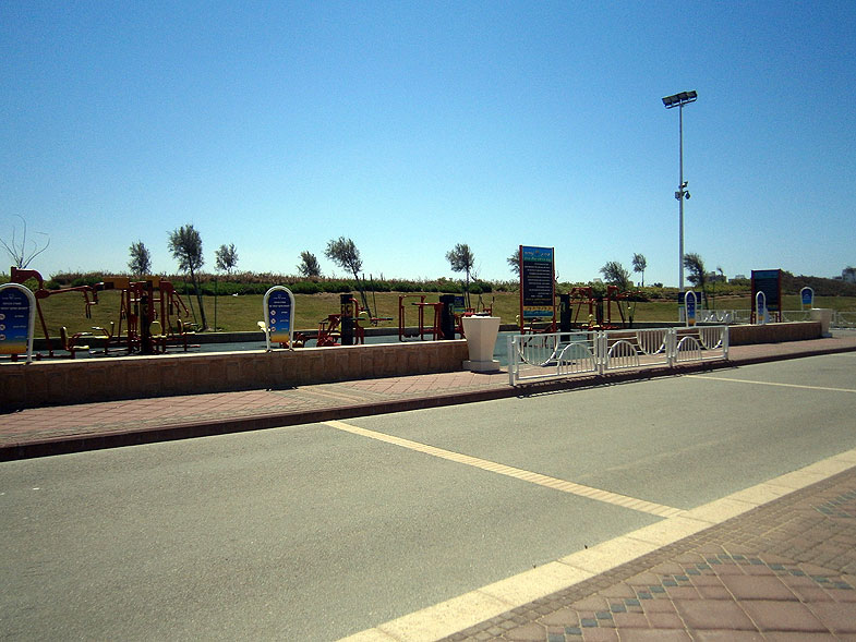 Nahariya. Promenade in the beach