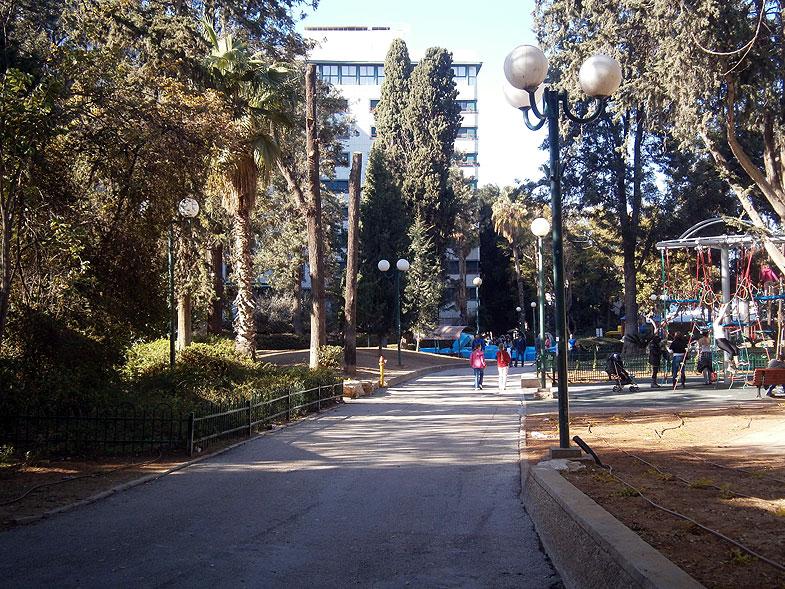 Ramat Gan. Park in Sderot HaYeled