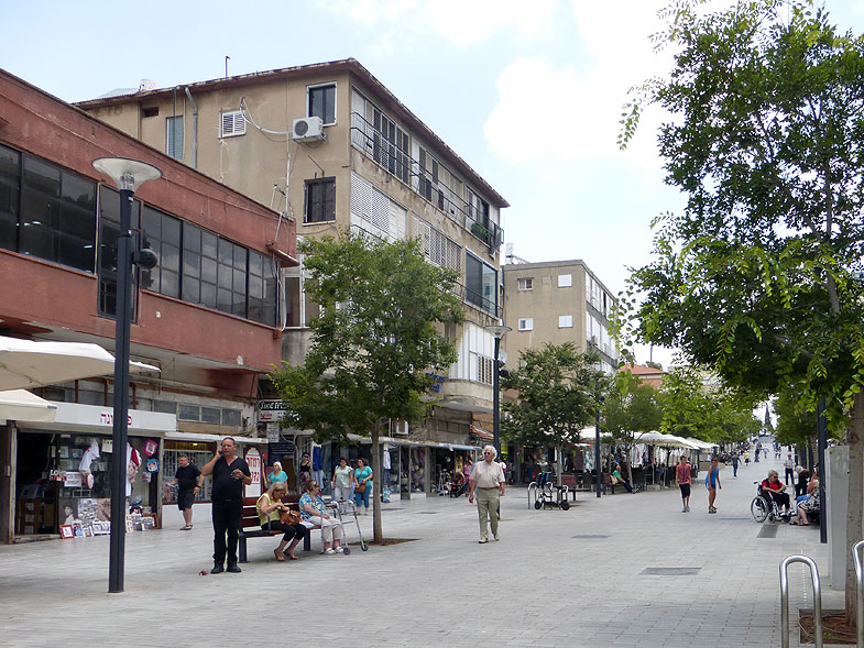 Rothschild Pedestrian Mall in Rishon LeZion
