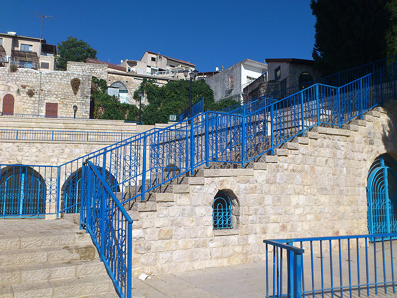 Safed before the onset of Shabbat