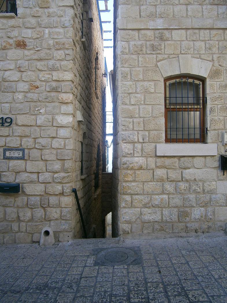 Safed before the onset of Shabbat