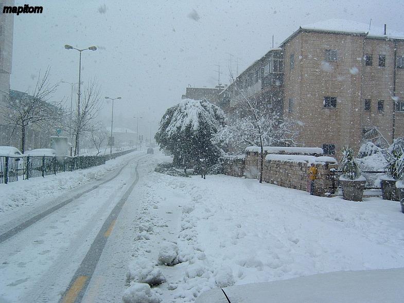 Заснеженный Иерусалим